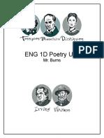 eng 1d poetry unit handout