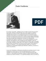 El Suicidio Émile Durkheim