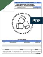 CA-AEPR-01 Procedimiento para Recepción de producto terminado