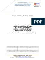 02.03.01, 02.03.02 y 02.03.03 Desmontaje de Viga u, De Piso y Malla de Puente