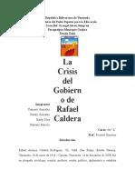 La Crisis Del Gobierno de Rafael Caldera