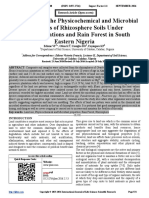 Assessment of the Physicochemical and Microbial Properties of Rhizosphere Soils Under Mono-plantations and Rain Forest in South Eastern Nigeria