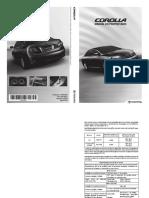 Manual Proprietário Toyota Corolla - 01999-98438