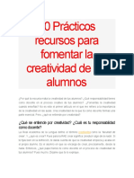 10 Prácticos Recursos Para Fomentar La Creatividad de Tus Alumnos