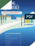 Brooks 2015 Corporate Responsibility Report