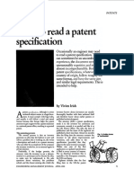 How to Read a Patent Specification