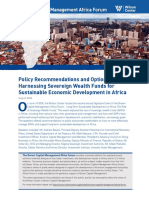 Harnessing Sovereign Wealth Funds for Sustainable Economic Development in Africa