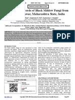 Some New Records of Black Mildew Fungi from Mahabaleshwar, Maharashtra State, India