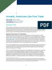 Survey Americans Like Free Trade