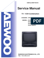 Daewoo Cn071 Chassis Dvq13h1fc Tv-Vcr Sm Only