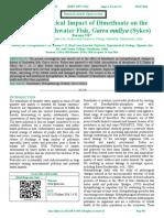 Histopathological Impact of Dimethoate on the Kidney of Freshwater Fish, Garra mullya (Sykes)