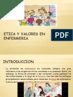 Diapositivas Etica y Valores en Enfermeria