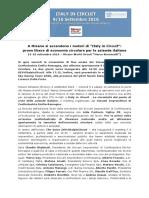 Comunicato Stampa 8 Settembre 2016 'Evento ItalyinCircuit Misano Adriatico' 8 Settembre 2016