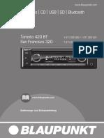 Blaupunkt Toronto 420bt CD Tuner