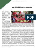 Polo, Higinio. El Éxito de La Huelga General Indica El Rumbo a La India, 9-2016