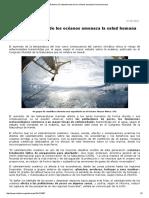 El Calentamiento de Los Océanos Amenaza La Salud Humana