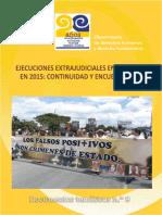 Ejecuciones Extrajudiciales en Colombia 2015 - Continuidad y Encubrimiento - CCEEU