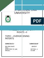 Evergreening Patent - Ipr
