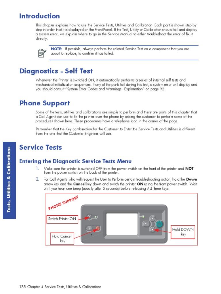 Hp Designjet l26500 Service Manual | Printer (Computing) | Calibration