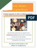 Brunch Table Captain 2016 Invitation