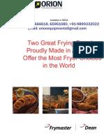 Dean Frymaster India SR42G 91-9899332022 Distributor