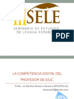 La Competencia Digital Del Profesor. SELE. Uneb.2013