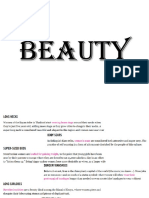 Readings and Conversation I UNIT 3 Topic BEAUTY