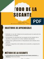4 - Método de La Secante
