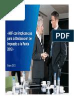 NIIF Con Implicancias Para La Declaracion a La Renta 2012