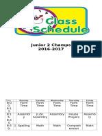 j2c timetable 16-17