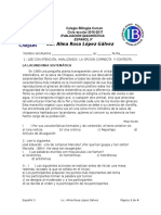 Evaluacion Diagnostica Español 3