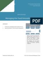 Managing Food Innovation