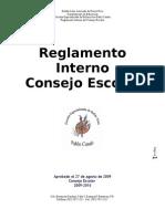 Reg. Interno Consejo Escolar 2009-2010