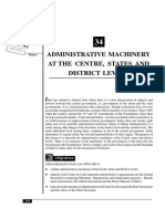Administrative Machinery at the Three Level