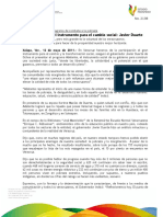 12 05 2011 - El gobernador Javier Duarte de Ochoa presentó el programa Adelante