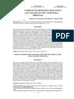 Paleotsunamis en el registro geologico de Cumaná, Venezuela (ARTICULO).pdf