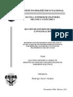 DETERMINACIÓN DE DEFORMACIONES MECÁNICAS EN DEVANADOS DE TRANSFORMADORES DE POTENCIA POR MEDIO DEL ANÁLISIS DE LA FUNCION DE TRANSFERENCIA DEL DEVANADO