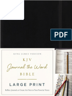 KJV Journal the Word Large Print