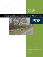 water quality assessment four mile creek
