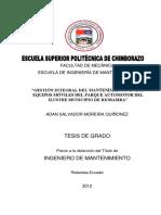 programa de mantenimiento para municipio
