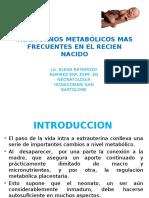 9-Trastornos Metabolicos Mas Frecuentes en El Rn