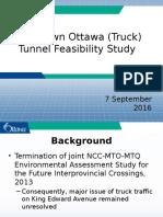 Ottawa Downtown Truck Tunnel - September 7th Presentation to TC