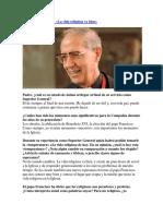Entrevista a Adolfo Nicolás SJ - Superior General de los Jesuitas