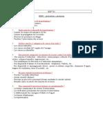 Questions Réponses BSP 731