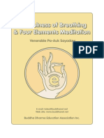 Mindfulness of Breathing and Four Elements Meditation