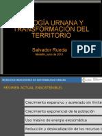 Ecología Urbana y Transformación Del Territorio