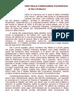 Neri Pollastri Presente e Futuro Della Consulenza Filosofica