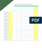 Plantilla de Excel Para Horario Escolar