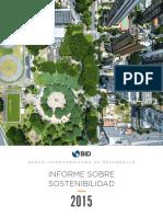 Informe Sobre Sostenibilidad BID 2015