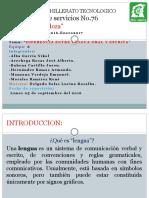 Diferencias Entre Lengua Oral y Escrita